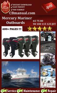 Mercury Mariner 65 75 80 90 100 115 125 JET Service Repair Manual | eBooks | Automotive