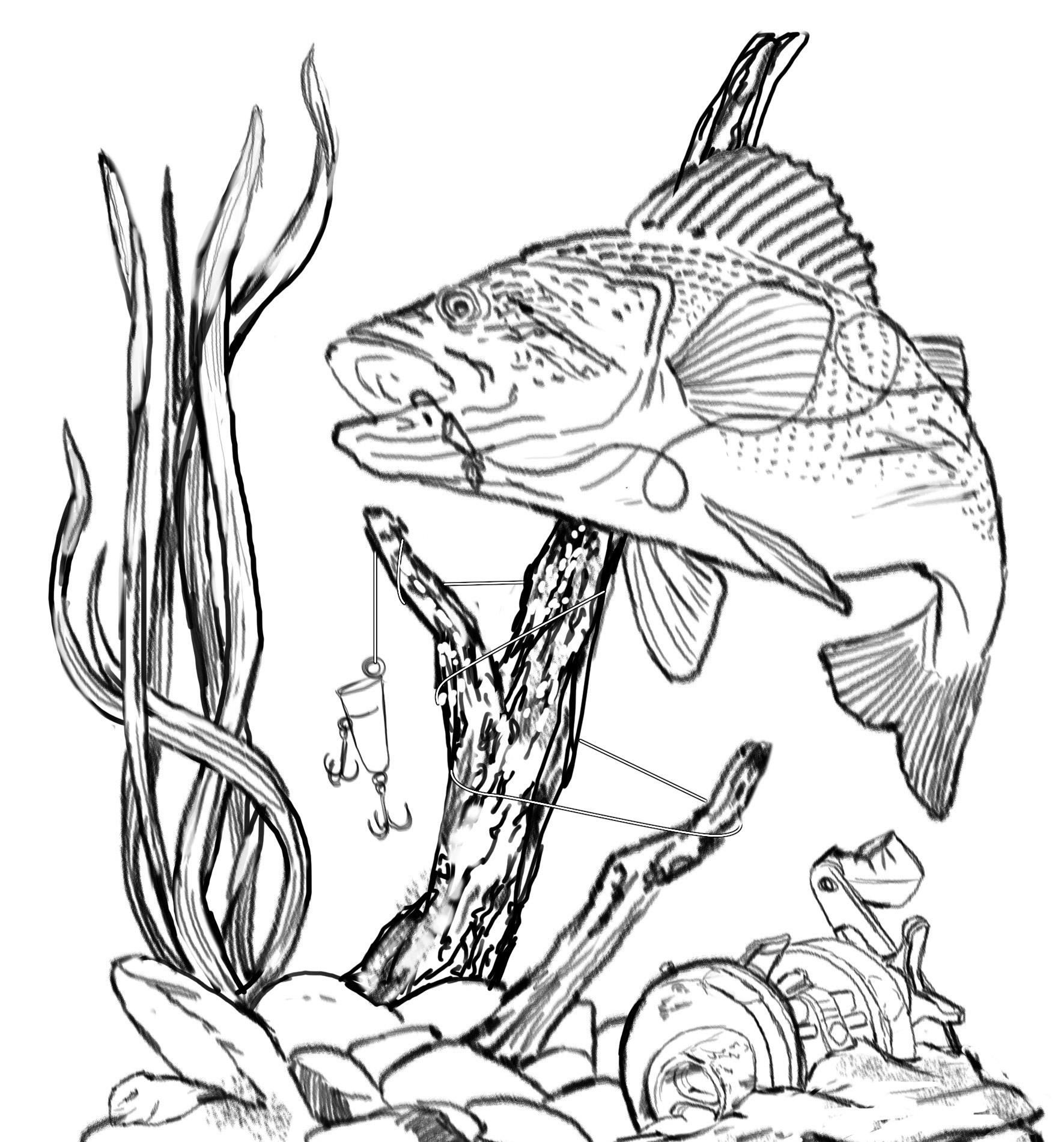 Bass Fishing Clip Art | Other Files | Clip Art