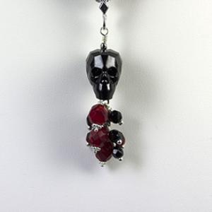 cinco de mayo skull pendant