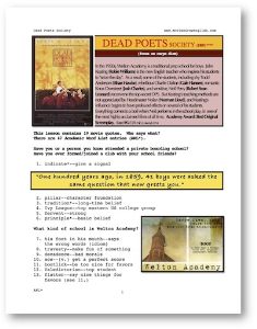 dead poets society, whole-movie english (esl) lesson