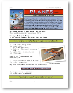 planes, whole-movie english (esl) lesson