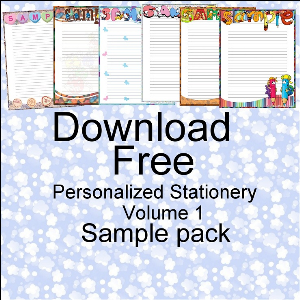 personalised stationery free sample pack volume 1