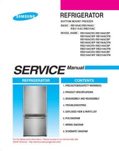 samsung rb194acrs refrigerator original service manual download