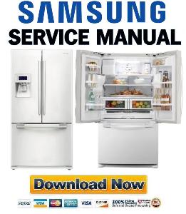 samsung rf268abwp refrigerator original service manual download