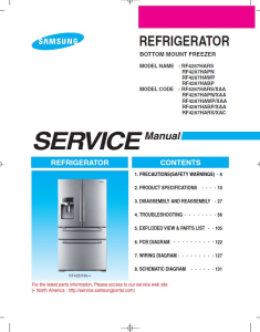 samsung rf4287hawp refrigerator original service manual download