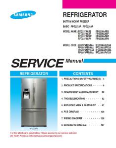 Samsung RFG237AARS Refrigerator Original Service Manual Download | eBooks | Technical