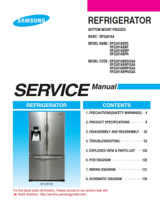 Samsung RFG297ABBP Refrigerator Original Service Manual Download | eBooks | Technical