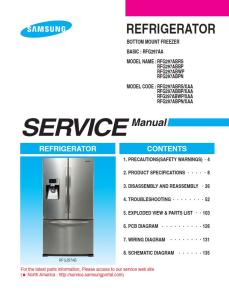 Samsung RFG297ACRS Refrigerator Original Service Manual Download | eBooks | Technical