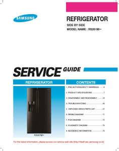 Samsung RS261MDRS Refrigerator Original Service Manual Download | eBooks | Technical