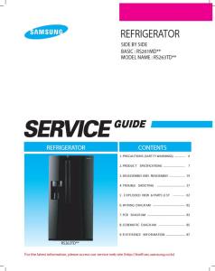 samsung rs263tdbp refrigerator original service manual download