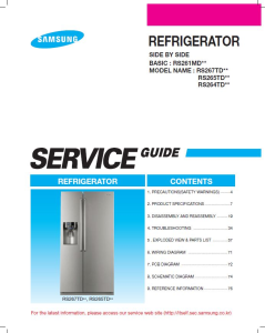 Samsung RS267TDRS Refrigerator Original Service Manual Download | eBooks | Technical