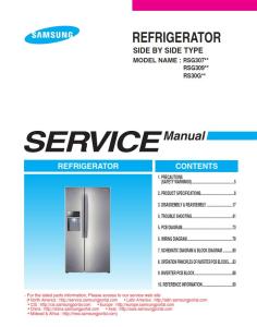 samsung rsg309aars refrigerator original service manual download