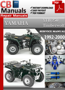 yamaha yfb 250 timberwolf 1992-2000 service repair manual