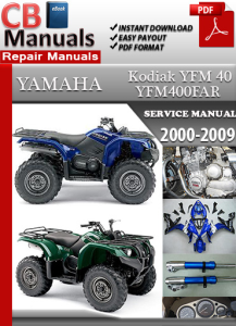 yamaha yfm 40 kodiak 2000-2009 service repair manual