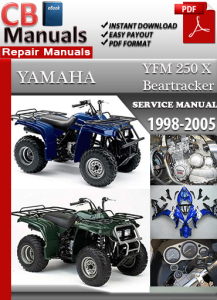 yamaha yfm 250 x beartracker 1998-2005 service repair manual