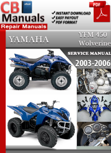 yamaha yfm 450 wolverine 2003-2006 service repair manual