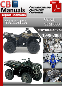 yamaha yfm 600 grizzly 1997-2001 service repair manual