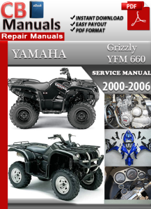 yamaha yfm 660 grizzly 2000-2006 service repair manual
