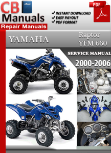 yamaha yfm 660 raptor 2000-2006 service repair manual