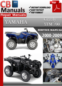 yamaha yfm 700 grizzly 2000-2009 service repair manual