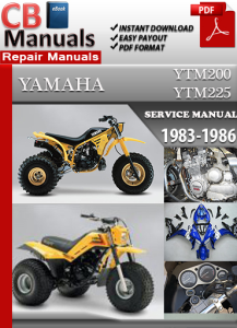 yamaha yfm ytm200 ytm225 1983-1986 service repair manual