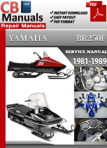 yamaha br250 1981-1989 service repair manual