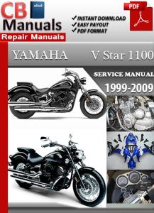 yamaha v star 1100 1999-2009 service repair manual