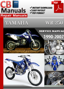 yamaha wr250 fr 1990-2007 service repair manual