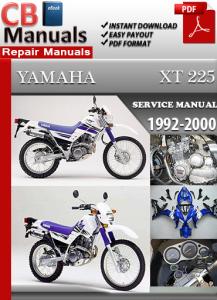 yamaha xt 225 1992-2000 service repair manual