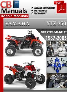 yamaha yfz 350 1987-2003 service repair manual