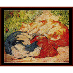 cats - marc cross stitch pattern by cross stitch collectibles