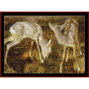 deer at dusk - marc cross stitch pattern by cross stitch collectibles