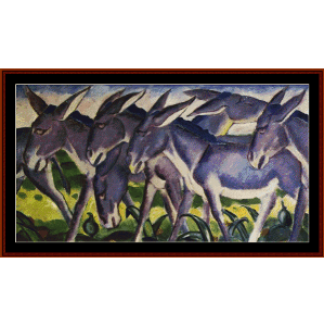 donkey frieze - marc cross stitch pattern by cross stitch collectibles