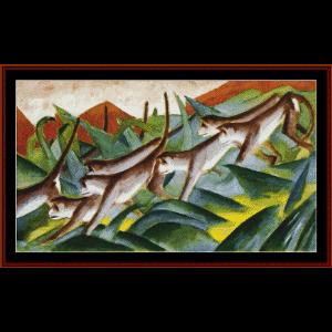 monkey frieze - marc cross stitch pattern by cross stitch collectibles