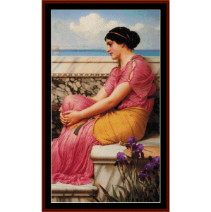 absence makes the heart grow fonder - godward cross stitch pattern by cross stitch collectibles
