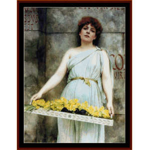 flower seller 1896 - godward cross stitch pattern by cross stitch collectibles