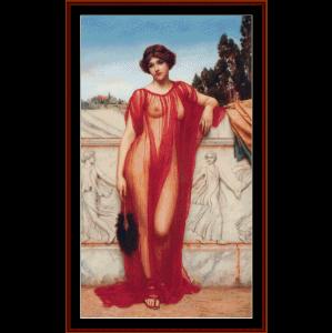 athenais - godward cross stitch pattern by cross stitch collectibles