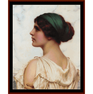 atalanta, 1908 - godward cross stitch pattern by cross stitch collectibles