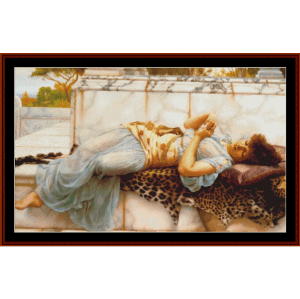the betrothed, 1892 - godward cross stitch pattern by cross stitch collectibles