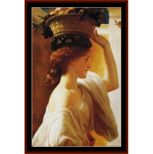 Girl with a Basket - Leighton cross stitch pattern by Cross Stitch Collectibles | Crafting | Cross-Stitch | Wall Hangings
