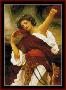 Bacchante 1895 - Leighton cross stitch pattern by Cross Stitch Collectibles | Crafting | Cross-Stitch | Wall Hangings