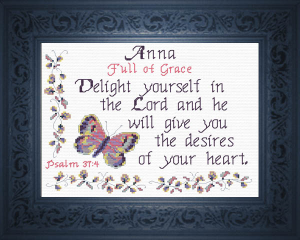 Name Blessings - Anna 2 | Crafting | Cross-Stitch | Religious