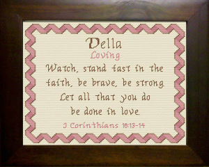 Name Blessings - Della | Crafting | Cross-Stitch | Other