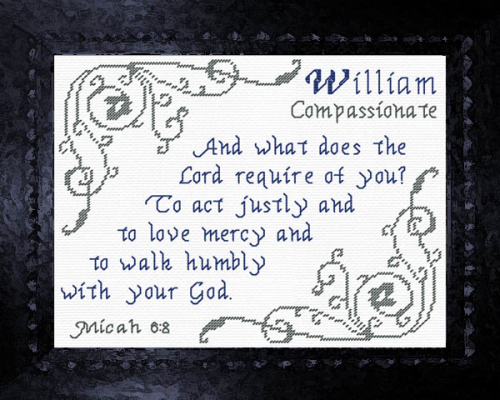 First Additional product image for - Name Blessings - William 2
