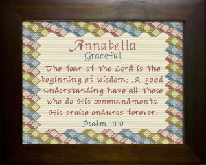 Name Blessings - Annabella | Crafting | Cross-Stitch | Religious