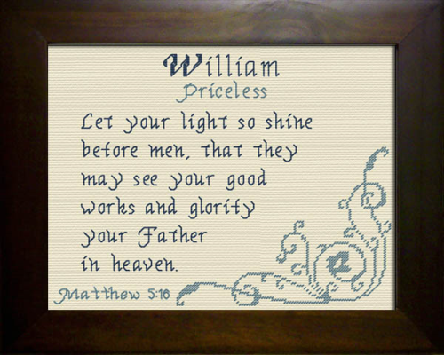 First Additional product image for - Name Blessings - William 3