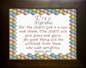 Name Blessings - Trey 2 | Crafting | Cross-Stitch | Other