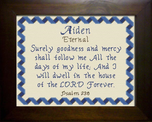 Name Blessings - Aiden | Crafting | Cross-Stitch | Religious