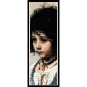 young girl bookmark - harlamoff cross stitch pattern by cross stitch collectibles