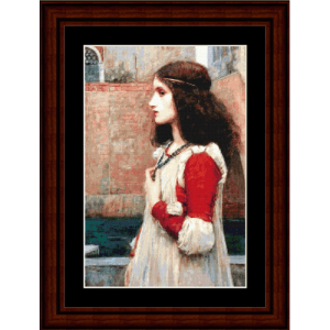 Juliet - Waterhouse cross stitch pattern by Cross Stitch Collectibles | Crafting | Cross-Stitch | Wall Hangings